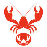 Lobster. Isolated objects on white background. Vector illustration (EPS 10 Royalty Free Stock Photo