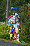Lobster Lane Buoys Royalty Free Stock Photography