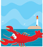 Lobster Light House Royalty Free Stock Photo