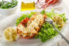 Lobster with mayonnaise sauce Stock Photography