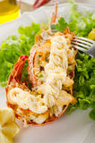 Lobster with mayonnaise sauce Royalty Free Stock Photos