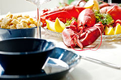 Lobster meal Royalty Free Stock Photos