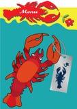 Lobster And Menu Header_eps vector illustration