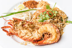 Lobster Pad Thai Royalty Free Stock Images