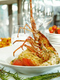 Lobster and pasta Royalty Free Stock Photos