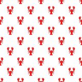 Lobster pattern, cartoon style. Lobster pattern. Cartoon illustration of lobster vector pattern for web Royalty Free Stock Photography