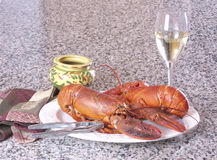 Lobster plate Stock Images