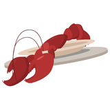 Lobster on a plate Royalty Free Stock Image