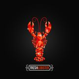 Lobster poly design background Stock Photography