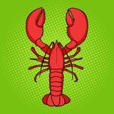 Lobster pop art style vector Stock Image