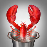 Lobster In Pot Stock Photos