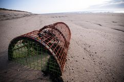 Lobster Pot on the beach Royalty Free Stock Images