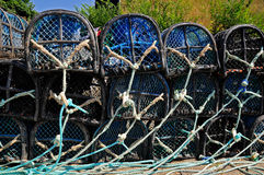 Lobster pot at Belle Ile in France Royalty Free Stock Photos