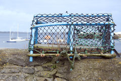 Lobster Pot. On a dock wall. Taken in Port St Mary in the Isle of Man Royalty Free Stock Image