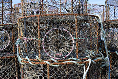 Lobster pot in french Brittany Royalty Free Stock Photo