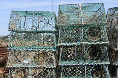 Lobster pot in french Brittany Stock Images