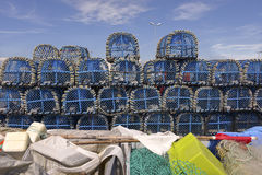 Lobster pot at Le Croisic in France Royalty Free Stock Photography