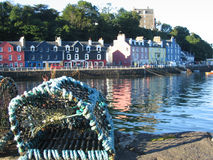 Lobster pot Tobermory. Lobster pot and Tobermory Harbour, Isle of Mull, Scotland Royalty Free Stock Photography