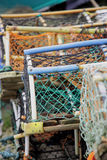 lobster pots arkivbild