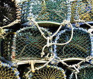 Lobster Pots Royalty Free Stock Photos
