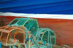 Lobster Pots Stock Photo