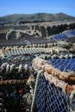Lobster pots,. Otago Peninsula, dunedin, south island, new zealand Stock Image