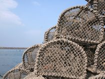 Free Lobster Pots Royalty Free Stock Photo - 892075