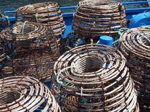 Lobster Pots on Boat Deck, Hobart, Tasmania Royalty Free Stock Images