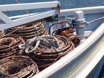 Lobster Pots on Boat Deck, Hobart, Tasmania Royalty Free Stock Photos