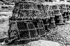 Lobster Pots at Boscastle Royalty Free Stock Images