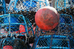 Lobster pots and buoys Royalty Free Stock Photos