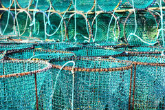 Lobster pots Royalty Free Stock Images