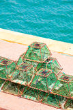 Lobster pots and crab pots drying Royalty Free Stock Photos