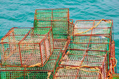 Lobster pots and crab pots Royalty Free Stock Images