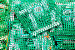 Lobster pots and crab pots Royalty Free Stock Photos