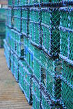 Lobster Pots (Creels) Stock Photo