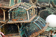 Lobster pots and creels Stock Image