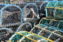 Lobster pots and creels Royalty Free Stock Image