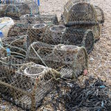 Lobster Pots Stock Photography