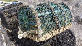 Fishing in coastal Cornwall, UK royalty free stock image