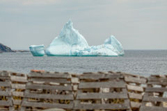 Lobster Pots and Iceberg Stock Images