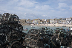Lobster Pots at St Ives Stock Photos