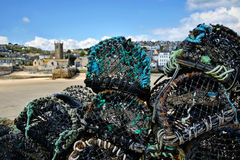Lobster Pots At St Ives Stock Photography