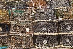 Lobster pots stack Royalty Free Stock Image