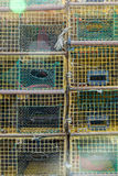 Lobster Pots Stacked Royalty Free Stock Images