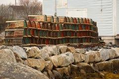 Lobster Pots Stock Image