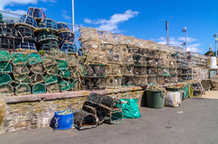 Lobster pots. Stored on quayside in southern england Stock Images