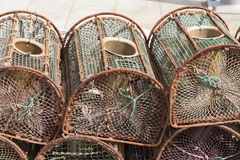 Lobster pots Royalty Free Stock Photography