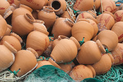Lobster pots used by Portuguese Fishermen Royalty Free Stock Photo