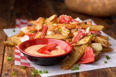 Lobster Poutine Royalty Free Stock Images